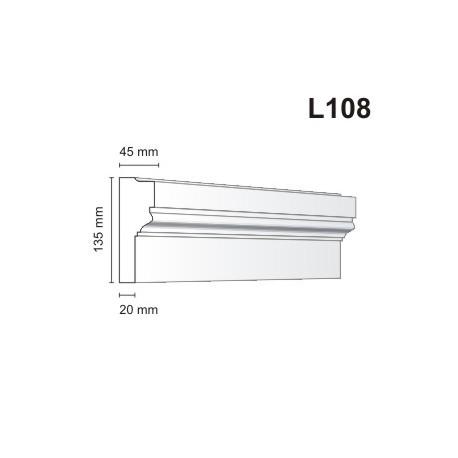 Listwa elewacyjna L108 45x135mm