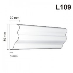 Listwa elewacyjna L109 30x80mm