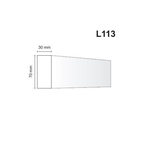 Listwa elewacyjna L113 30x70mm