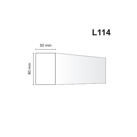 Listwa elewacyjna L114 50x80mm