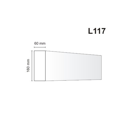 Listwa elewacyjna L117 60x160mm