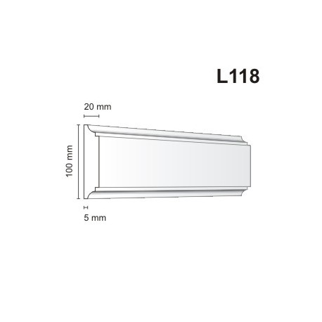 Listwa elewacyjna L118 20x100mm