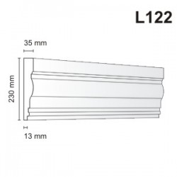 Listwa elewacyjna L122 35x230mm