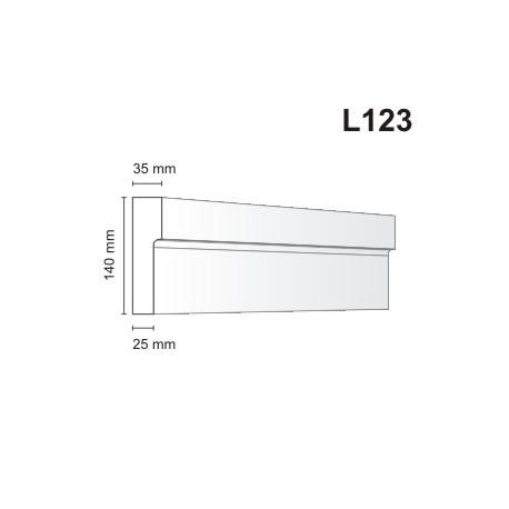 Listwa elewacyjna L123 35x140mm