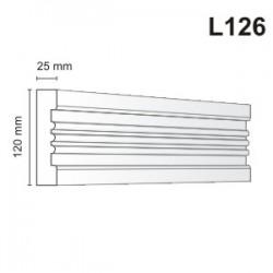 Listwa elewacyjna L126 25x120mm