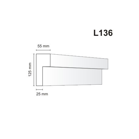 Listwa elewacyjna L136 55x125mm