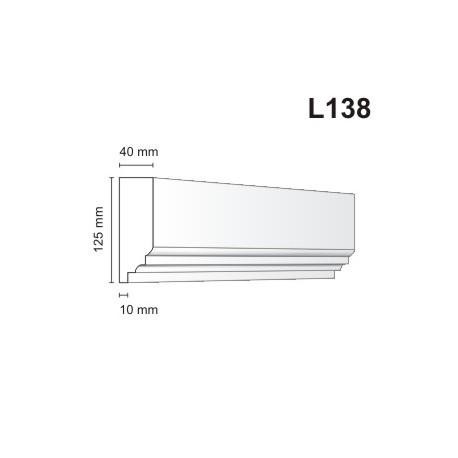 Listwa elewacyjna L138 40x125mm