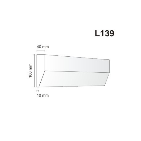 Listwa elewacyjna L139 40x160mm