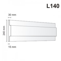 Listwa elewacyjna L140 30x240mm