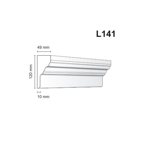 Listwa elewacyjna L141 49x120mm