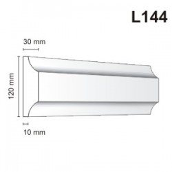 Listwa elewacyjna L144 30x120mm