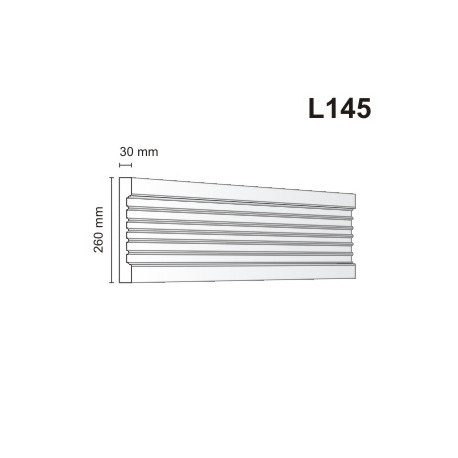 Listwa elewacyjna L145 30x260mm