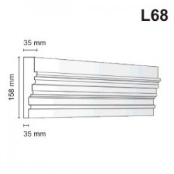 Listwa elewacyjna L68 35x158mm