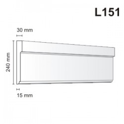 Listwa elewacyjna L151 30x240mm