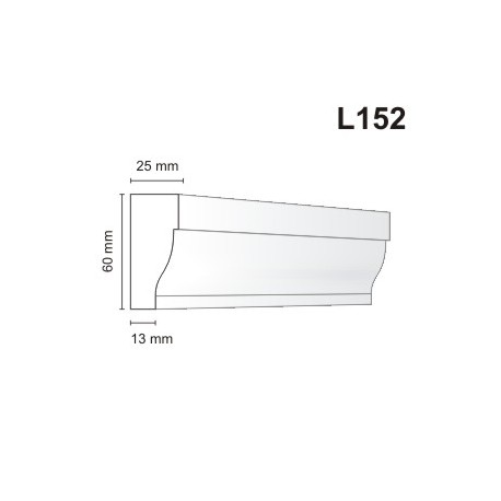 Listwa elewacyjna L152 25x60mm