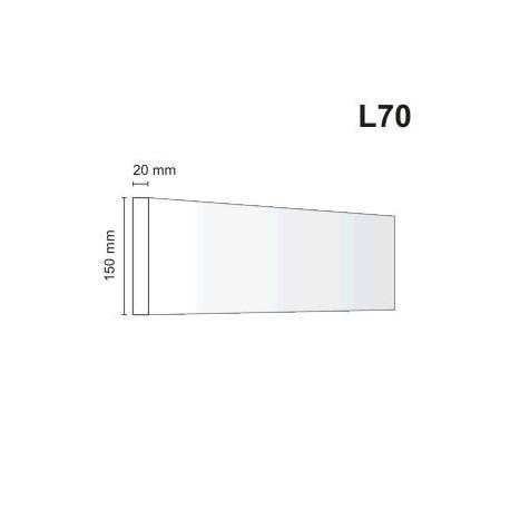 Listwa elewacyjna L70 20x150mm
