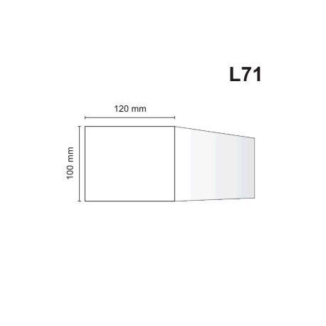 Listwa elewacyjna L71 120x100mm