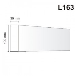 Listwa elewacyjna L163 30x100mm