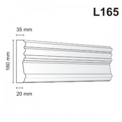 Listwa elewacyjna L165 35x160mm
