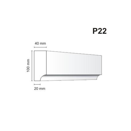Listwa podokienna P22 40x100mm