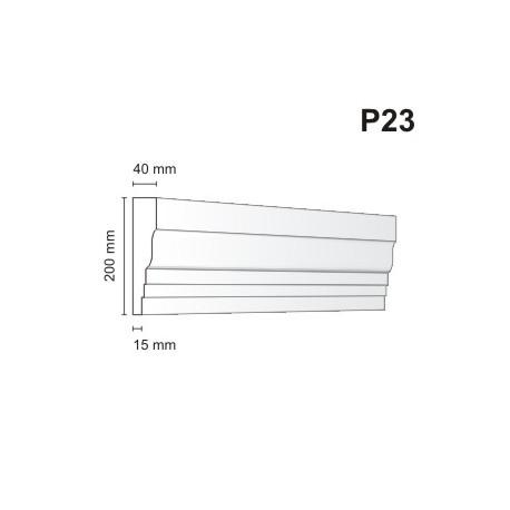 Listwa podokienna P23 40x200mm