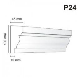Listwa podokienna P24 45x100mm