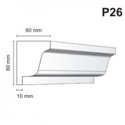 Listwa podokienna P26 60x80mm