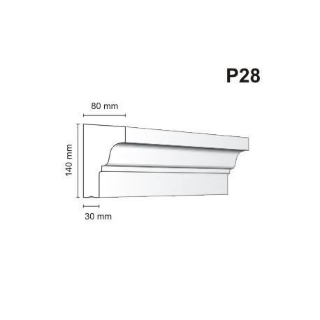 Listwa podokienna P28 80x140mm