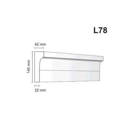 Listwa elewacyjna L78 42x140mm