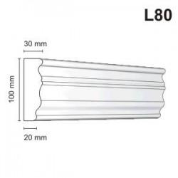 Listwa elewacyjna L80 30x100mm