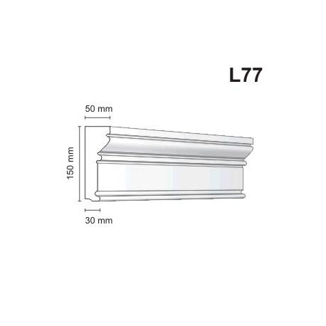 Listwa elewacyjna L77 50x150mm
