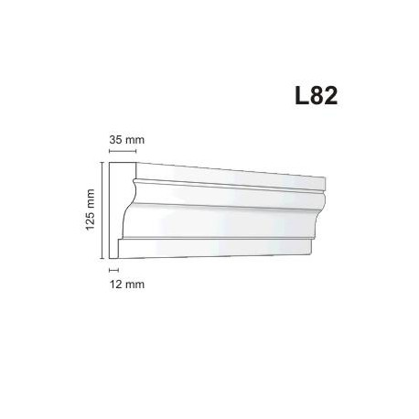 Listwa elewacyjna L82 35x125mm