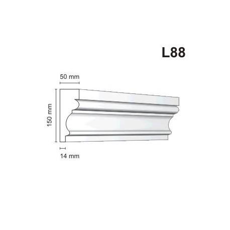 Listwa elewacyjna L88 50x150mm