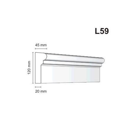 Listwa elewacyjna L59 45x120mm