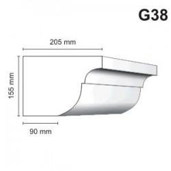 Gzyms elewacyjny G38 205x155 mm