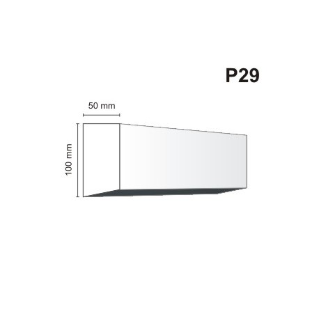 Listwa podokienna P29 50x100mm
