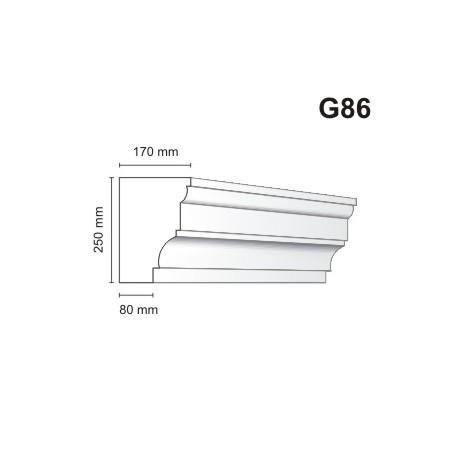 Gzyms elewacyjny G86 170x250mm