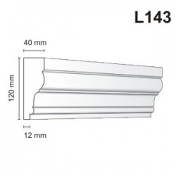 Listwa elewacyjna L143 40x120mm