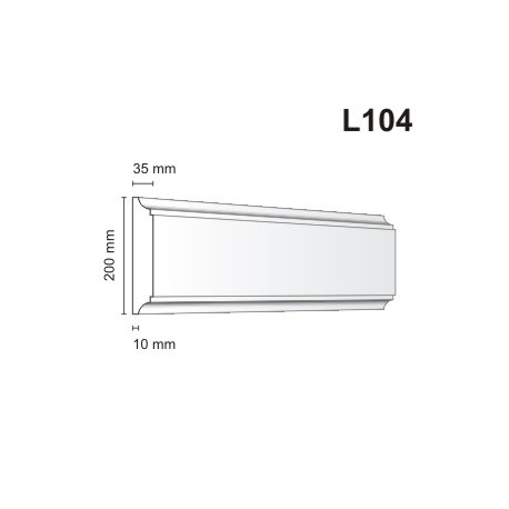 Listwa elewacyjna L104 35x200mb