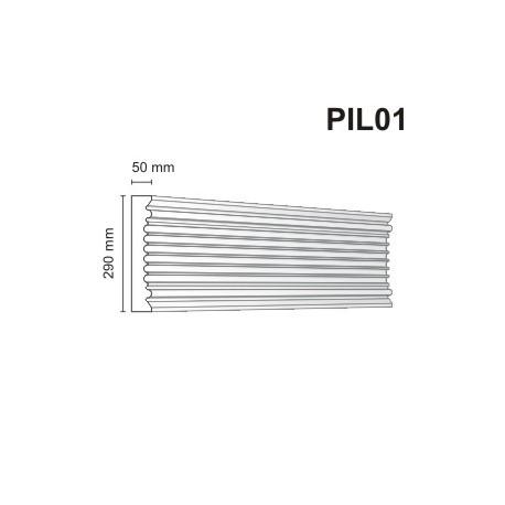 Pilaster elewacyjny PIL01 50x290mm