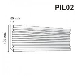 Pilaster elewacyjny PIL02 50x400mm