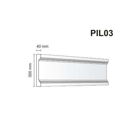 Pilaster elewacyjny PIL03 40x300mm