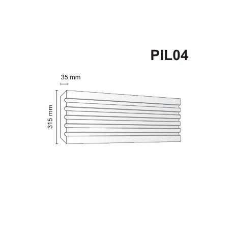 Pilaster elewacyjny PIL04 35x315mm