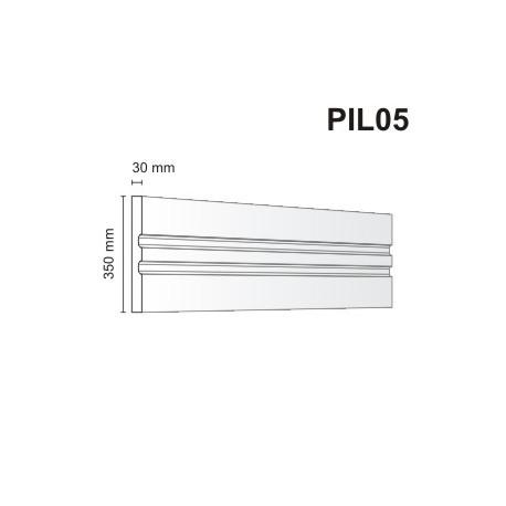 Pilaster elewacyjny PIL05 30x350mm