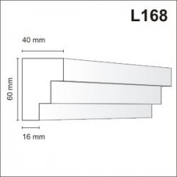 Listwa elewacyjna L168 40x60mm