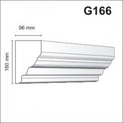 Gzyms elewacyjny G166 96x160mm