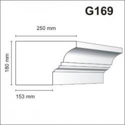 Gzyms elewacyjny G169 250x180mm