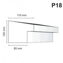 Listwa podokienna P18 115x100m