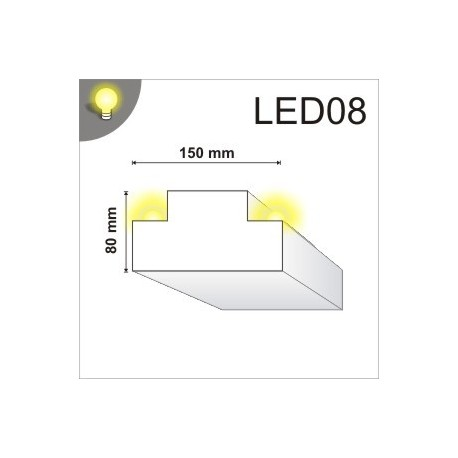 Listwa oświetleniowa LED08 150x80mm