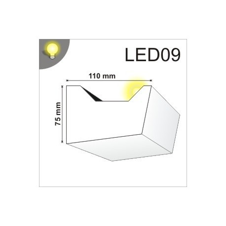 Listwa oświetleniowa LED09 100x75mm